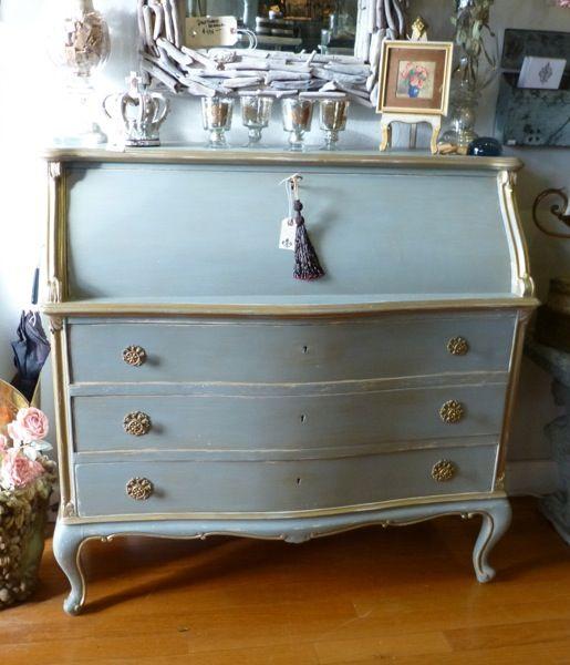 Vintage Drop Front French Desk Decorative Furniture Painting Furniture Furniture Restoration
