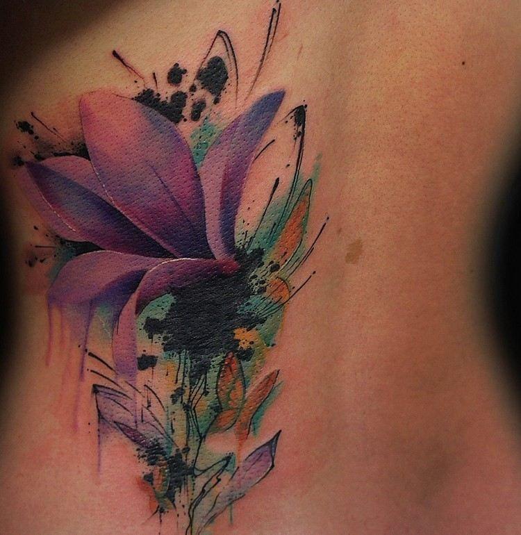 65 Examples Of Watercolor Tattoo Tatouage Tatouage Aquarelle