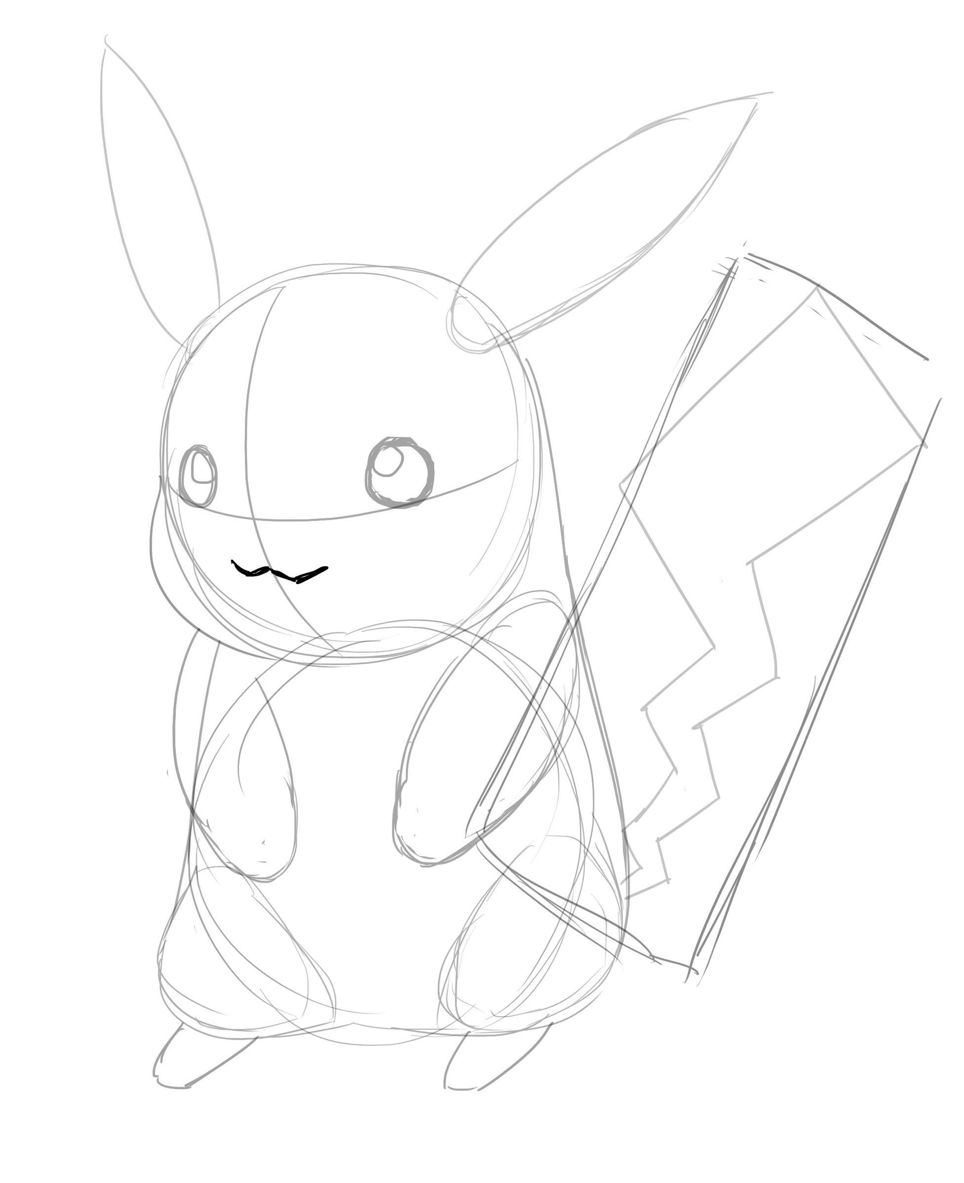 Comment Dessiner Pikachu Dessin Pikachu Comment Dessiner Pikachu Pikachu