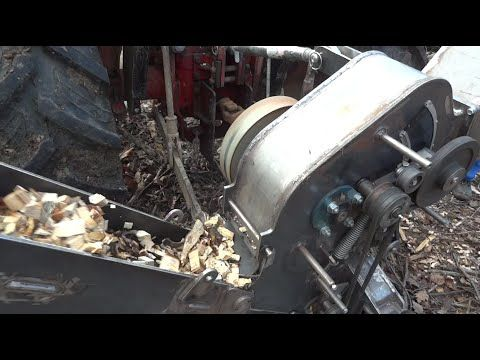 Homemade Wood Chipper for making of heating wood chips - Part 1 - First test - YouTube