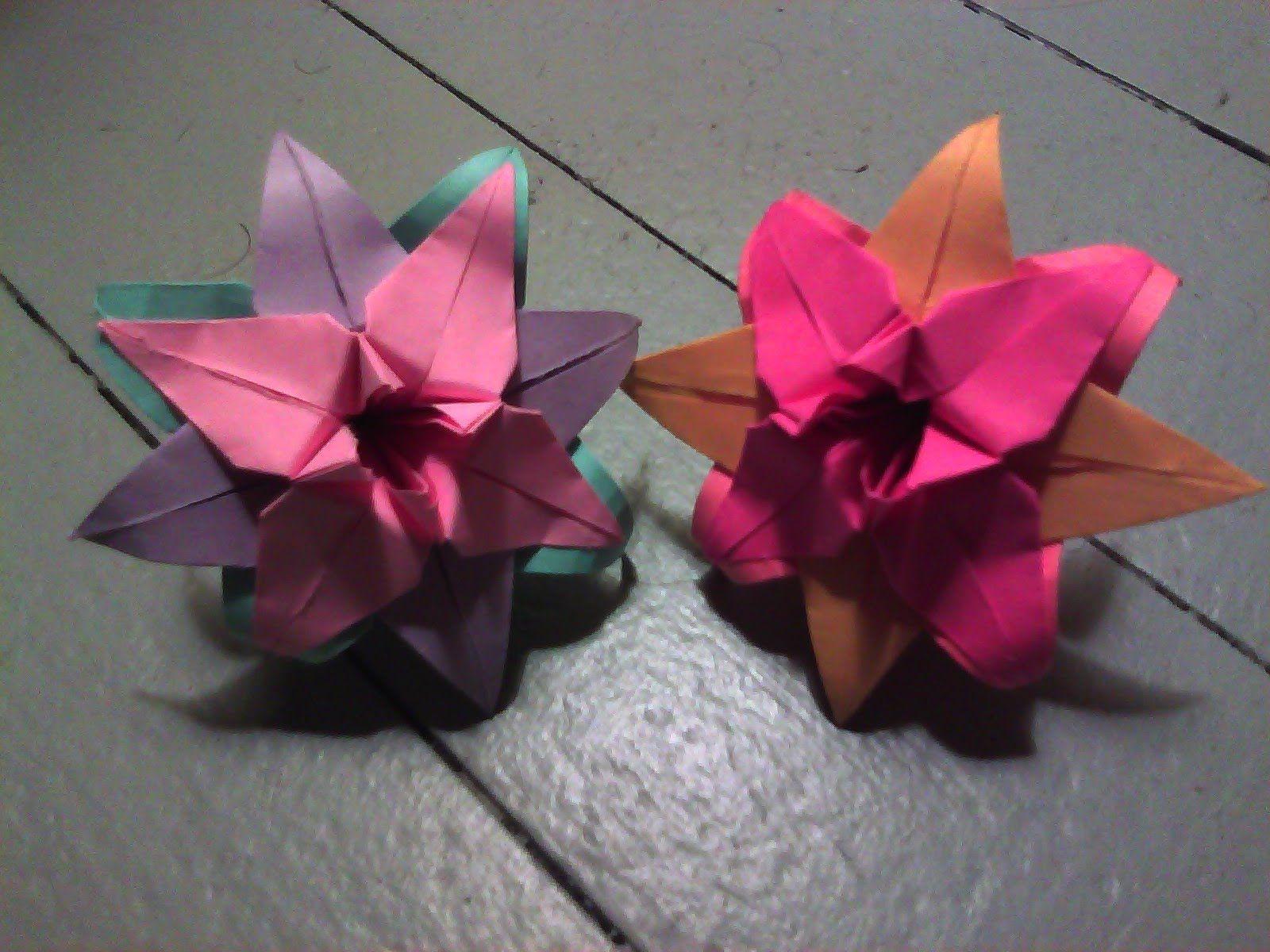 Tricolored origami lily origami flowers pinterest origami how to fold a tricolored origami lily izmirmasajfo