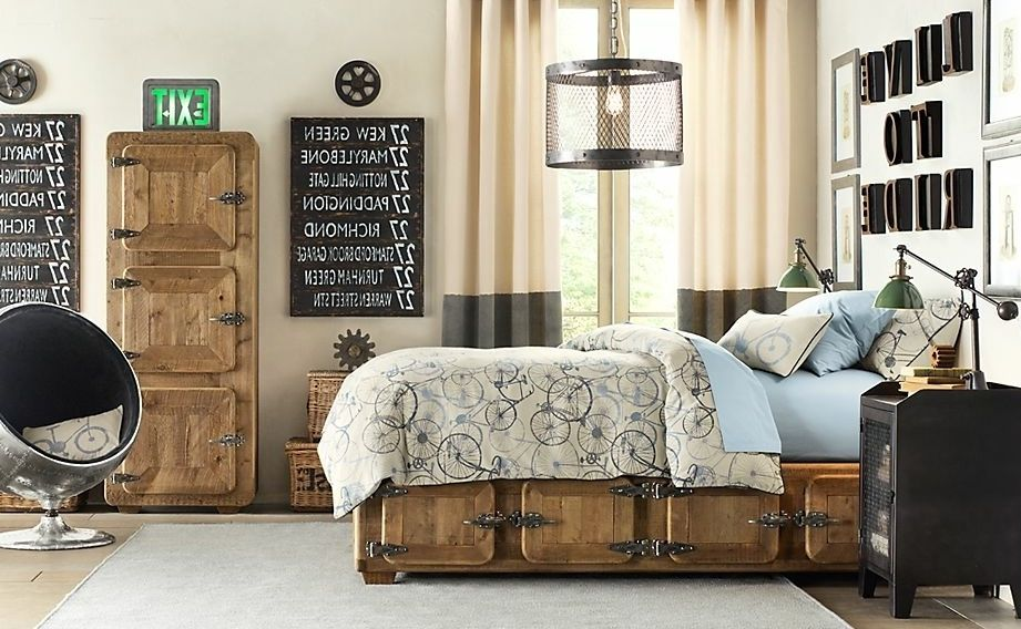 Boys Bedroom Ideas Vintage Industrial Bedroom Furniture | Boy ...