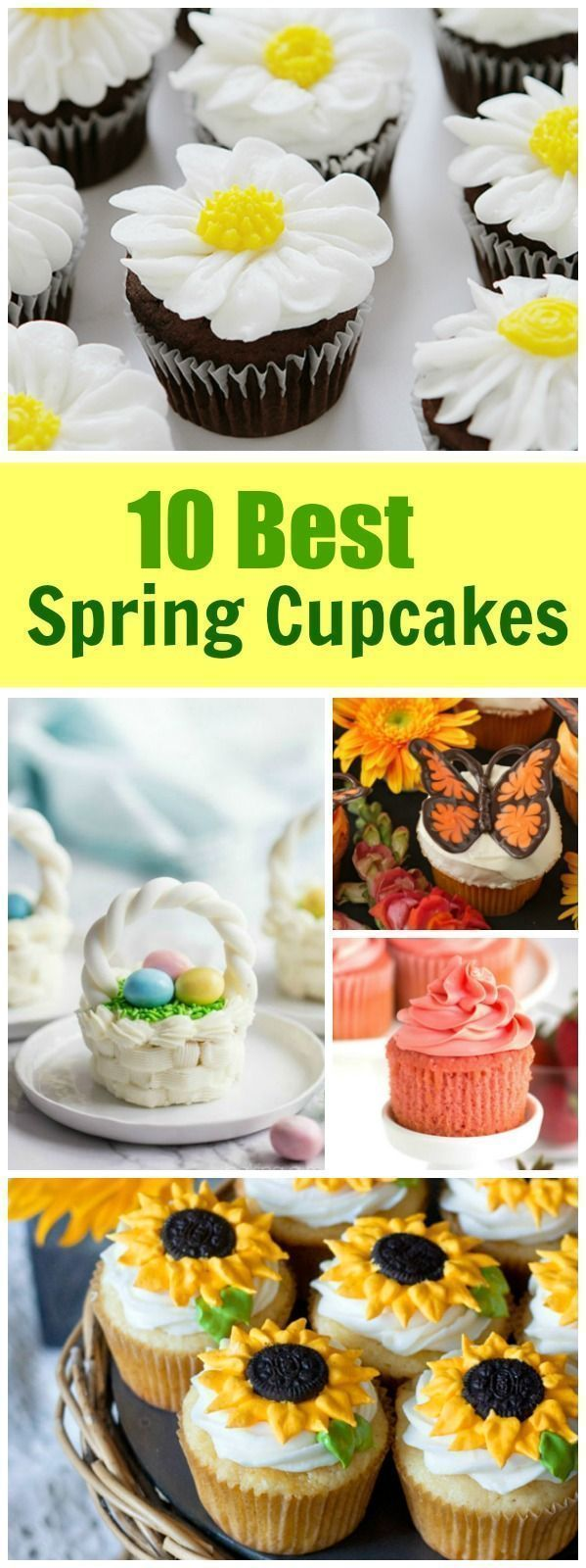 10 Best Spring Cupcake Recipes: Daisy Cupcakes, Lemon Sunflower Cupcakes, Chocolate Butterfly Cupcakes, Easter Basket Cupcakes and more! #sunflowercupcakes 10 Best Spring Cupcake Recipes: Daisy Cupcakes, Lemon Sunflower Cupcakes, Chocolate Butterfly Cupcakes, Easter Basket Cupcakes and more! #sunflowercupcakes 10 Best Spring Cupcake Recipes: Daisy Cupcakes, Lemon Sunflower Cupcakes, Chocolate Butterfly Cupcakes, Easter Basket Cupcakes and more! #sunflowercupcakes 10 Best Spring Cupcake Recipes: #sunflowercupcakes