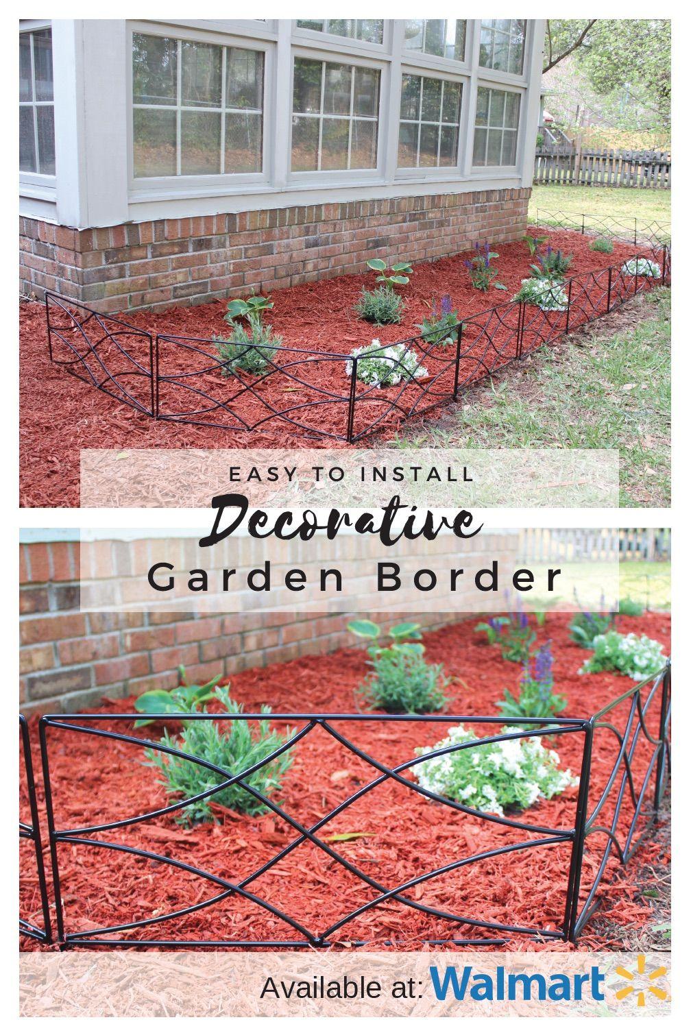 """Expert Gardener 22"""" x 16"""" Steel Diamond Garden Border"""