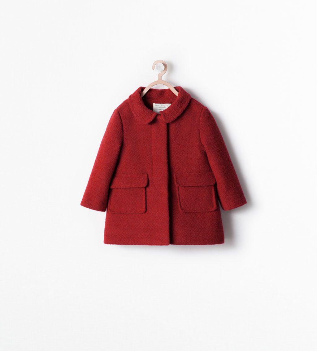Red Coat With Collar Stock Clearance Baby Girl Kids Sale Zara United States Kinderkleidung Modische Madchen Zara Kinder