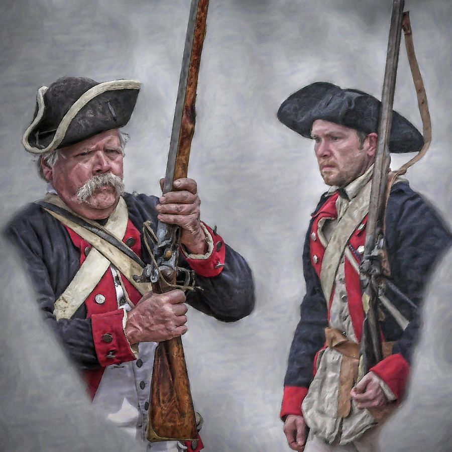 Pair Of American Revolutionary War Soldiers Portrait by ...