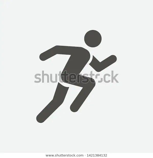 Man Running Icon Vector Illustration Eps10 Stock Vector Royalty Free 1421384132