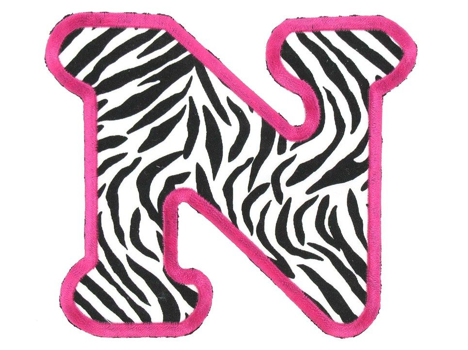 printable pink zebra print letters - Google Search Sassy\u0027s 8th