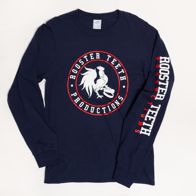Rooster Teeth Crest Long Sleeve T Shirt Long Sleeve Tshirt Men Long Sleeve Sleeves