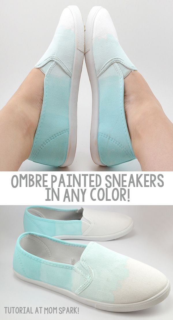 DIY Ombre Sneakers fashion diy craft craft ideas diy crafts diy projects crafty diy fashion ombre ombre sneakers