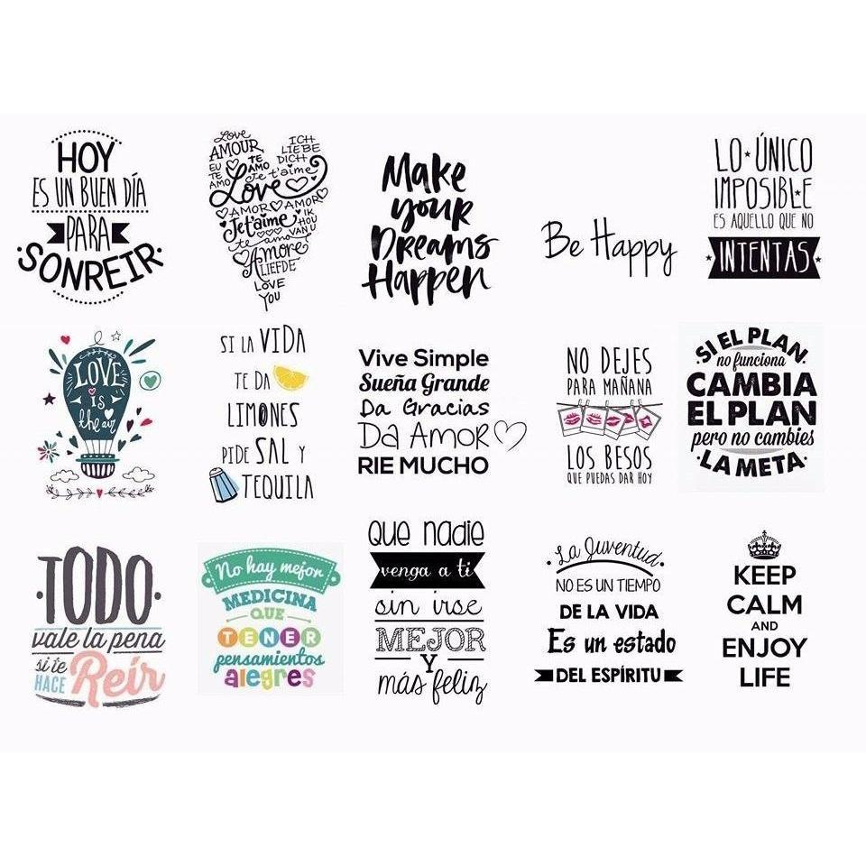 Resultado de imagen para stickers con frases lindo - Vinilos bonitos ...
