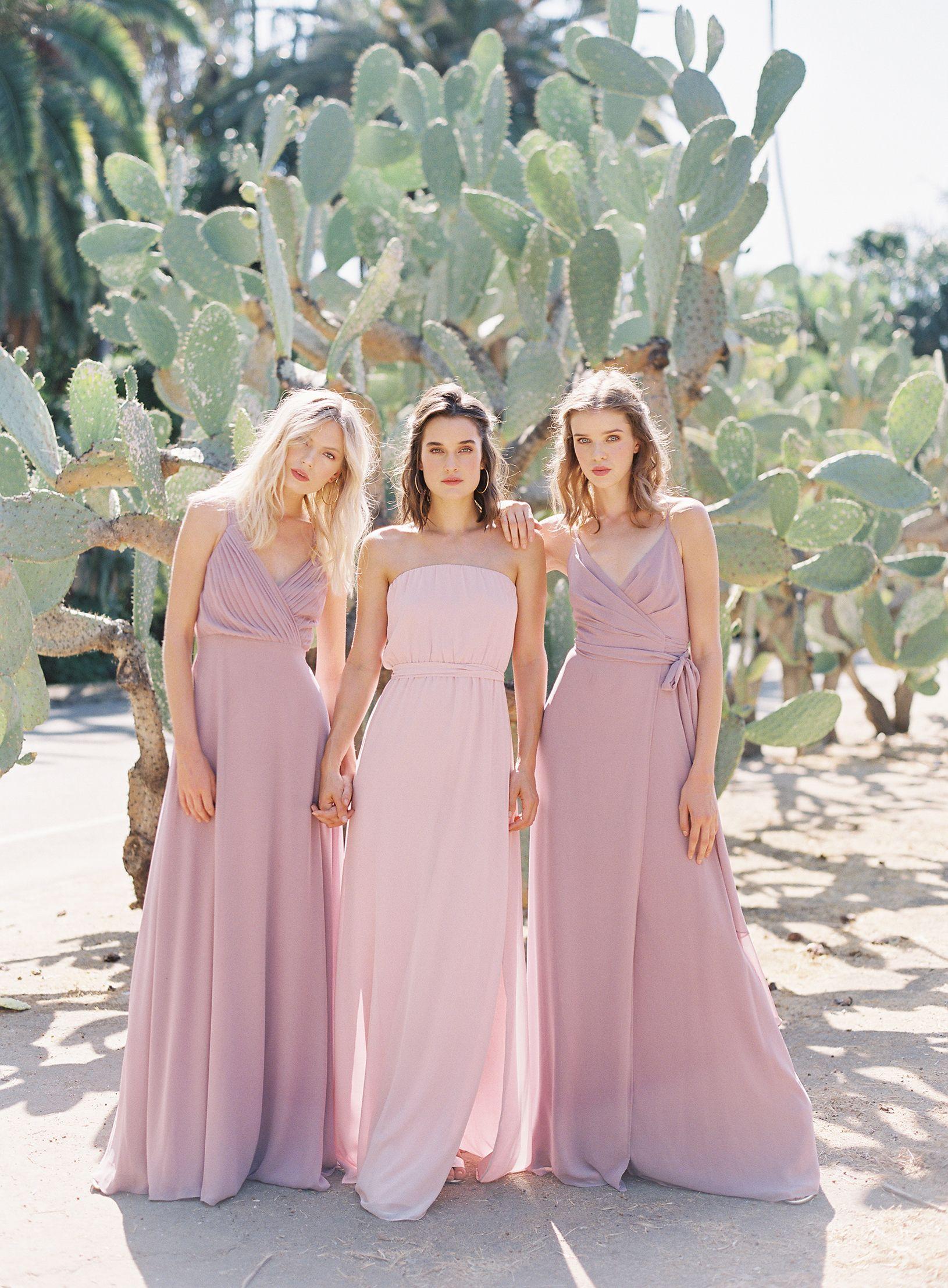 Home   Pinterest   Dusty rose bridesmaid dresses, Rose bridesmaid ...