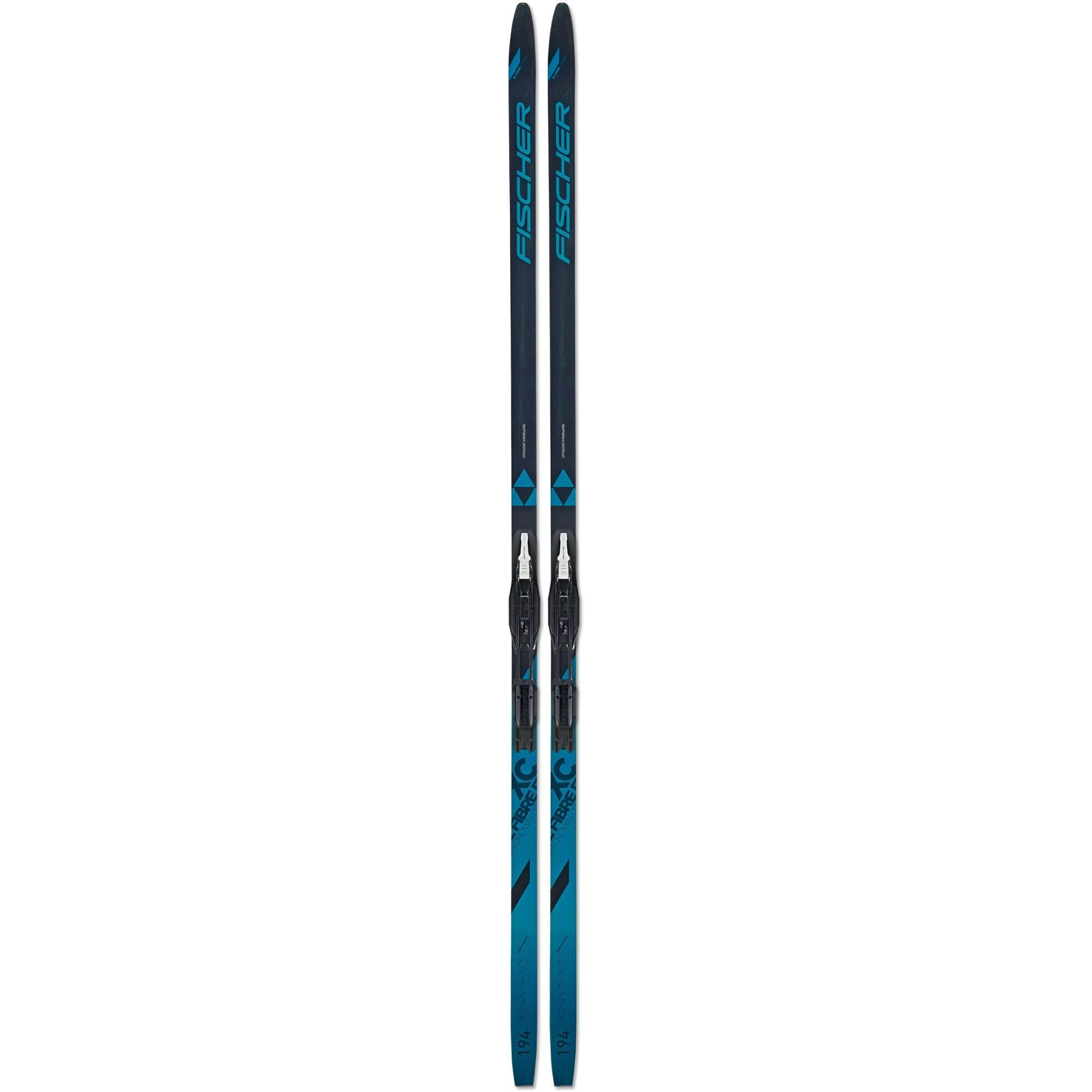 Built to excel in packed  tracked and moderate ungroomed conditions where other skis slow down  the Fischer Fibre Crown EF cross-country skis with bindings make skiing easier for any level of skier.