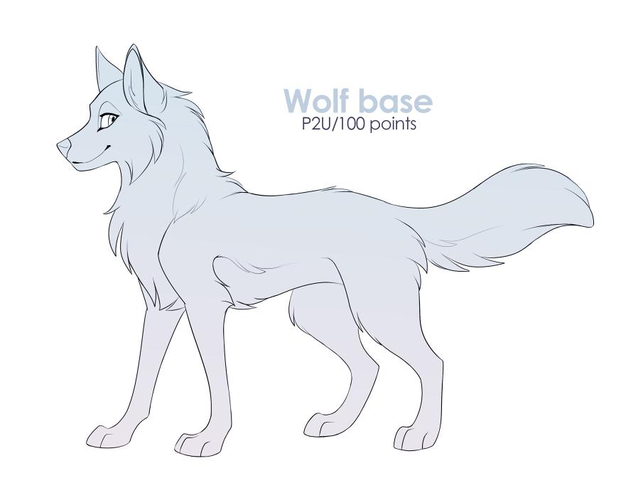 Photo of [P2U] Wolf base by Mistrel-Fox on DeviantArt
