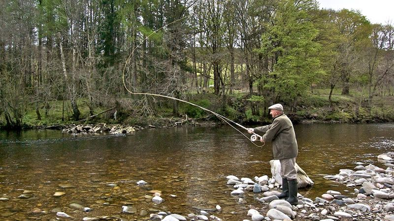 fishing in Edinburgh Scotland | I see the granddaddy of all trout just back there...