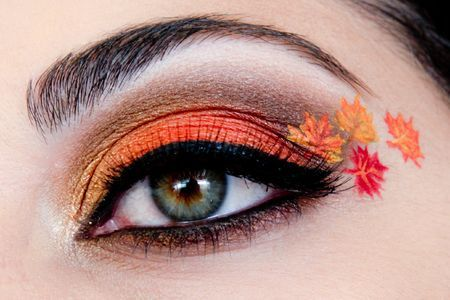 autumn leaf eye makeup  thanksgiving makeup holiday