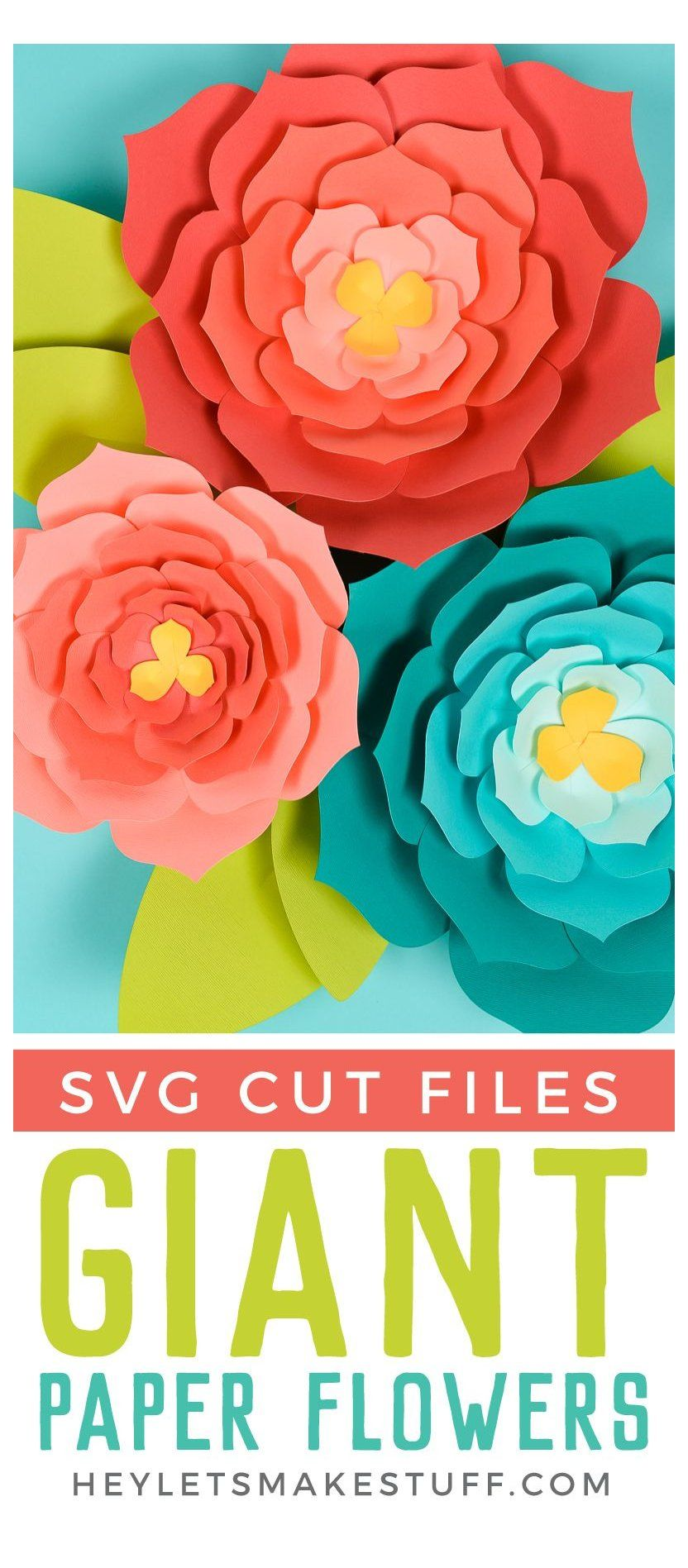 Giant Paper Flowers: Template + Tips and Tricks to Make It Easy #paperflowers