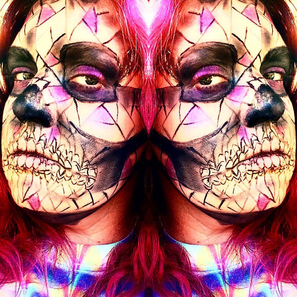 Abstract skull. Find me on IG-Kim Whitesel