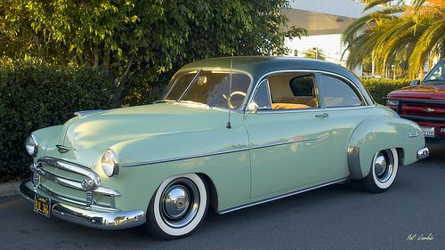 1950 Chevrolet Deluxe 2 Door Sedan Dk Grn Over Lt Grn Early