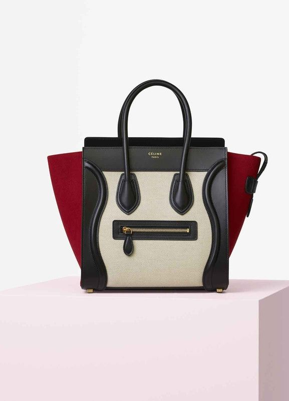 Micro Luggage Handbag In Multicolour Textile セリーヌについて
