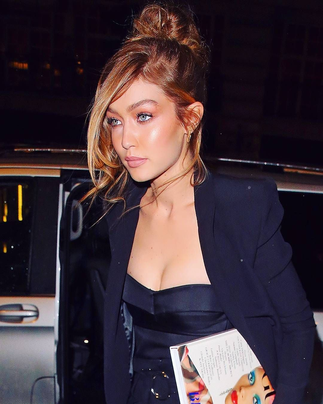fb554d8ff46 Pin by July . on Gigi Hadid | Dinner in paris, Camisole top, Tank tops