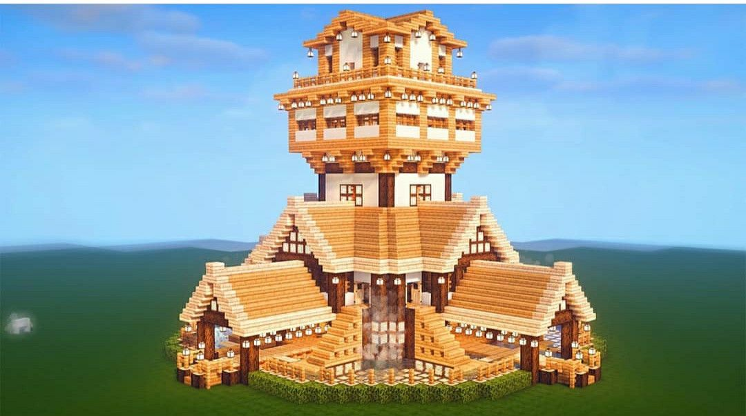 Large Survival House In 2020 Minecraft Structures Minecraft Mansion Minecraft Houses