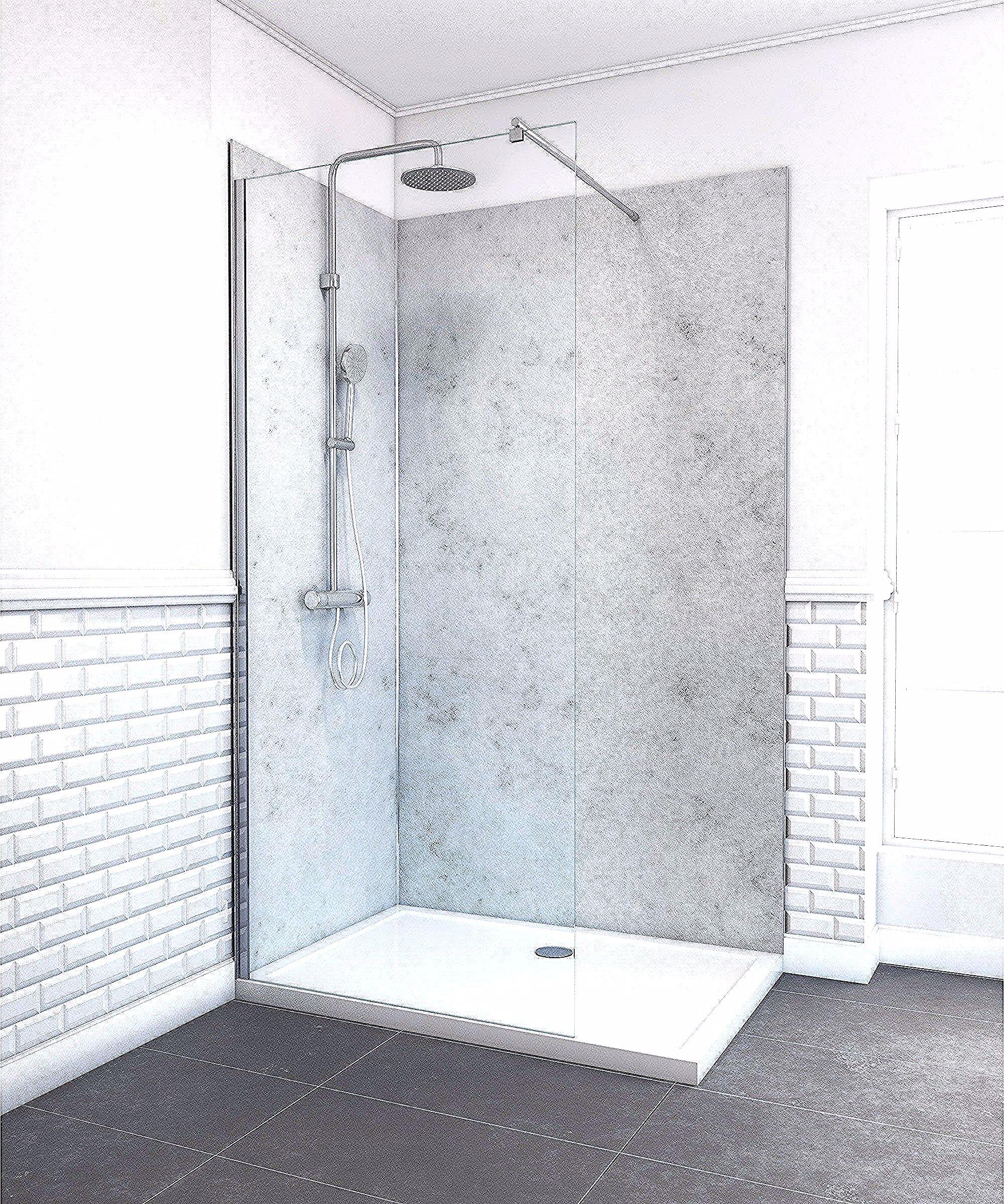 Panneau Mural Salle De Bain Gris Alucolor H 210 Cm X L 90 Cm Gris In 2020 Bathtub Alcove Bathtub Bathroom