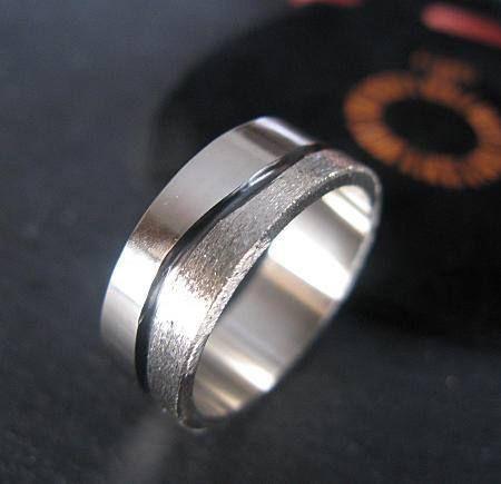 Modern River Ring 8mm 14k White Gold Brushed Finish Mens Etsy Mens Wedding Rings Unique Mens Wedding Bands Unique Mens Wedding Bands