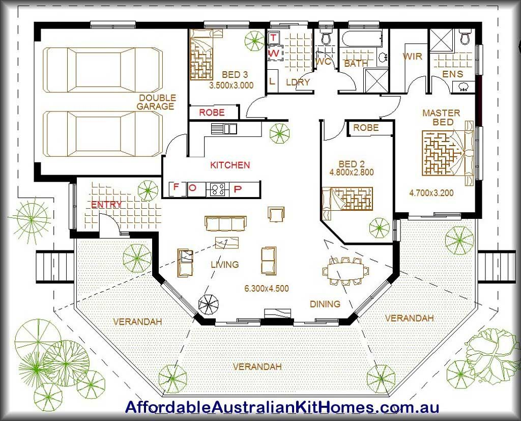 Large Australian House Plans With Two Garage Layout