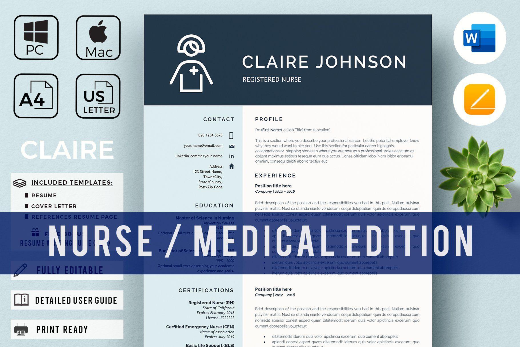 Nurse Resume Template Nursing Cv Nursing Resume Nursing Resume Template Resume Template