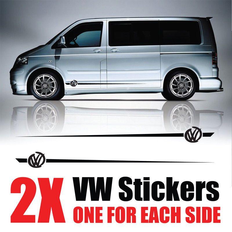 6a4f6f55e3271e VW Transporter Graphics stripes Camper Van Decals Stickers T4 T5 Caddy rv26