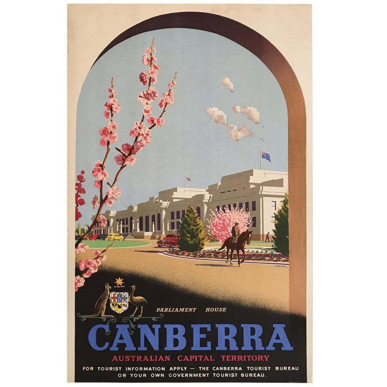 fd4b78def7 Percy Trompf Posters - Vintage Poster Canberra Australian Capital ...