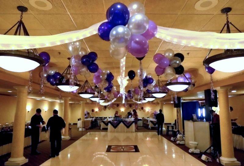 Balloons High Ceiling Decor Google Search High Ceiling Decorating Ceiling Decor Balloon Clusters