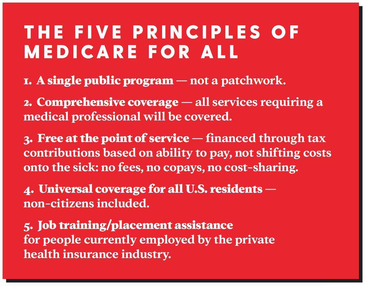 five principles a single program; comprehensive coverage