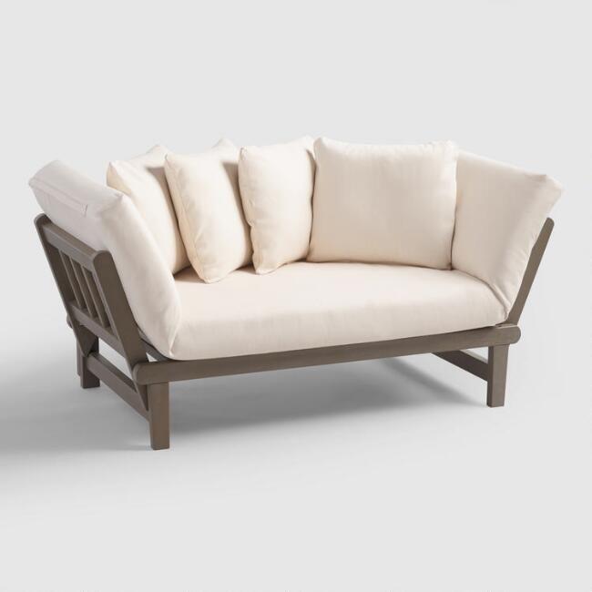 450 cost plus graywash studio day sofa v1 bedroom rh pinterest com cost plus sofas cork cost plus sofa table