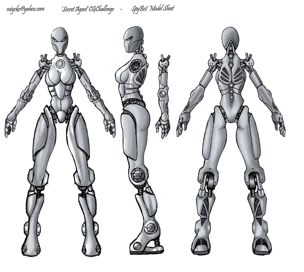 Robot/Fiction Blueprint Model Sheet
