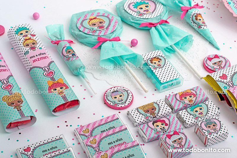Etiquetas De Golosinas Para Imprimir De Lol Por Todo Bonito Birthday Surprise Party Suprise Party Doll Party