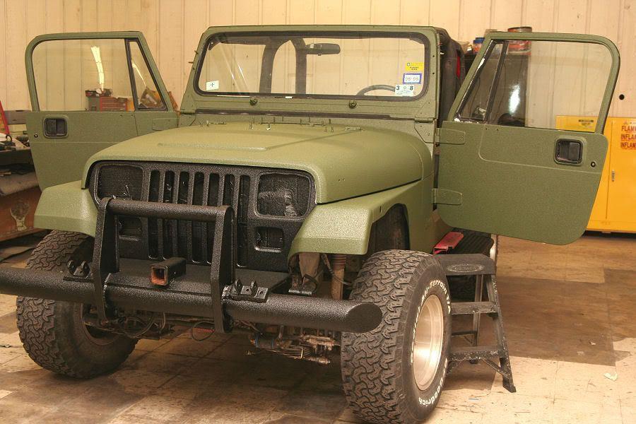 Powder Coat Vs Line X Jeepforum Com Jeep Yj Jeep Wrangler