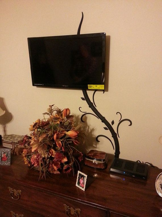 Hide tv and digital picture frame cords without cutting holes in ...