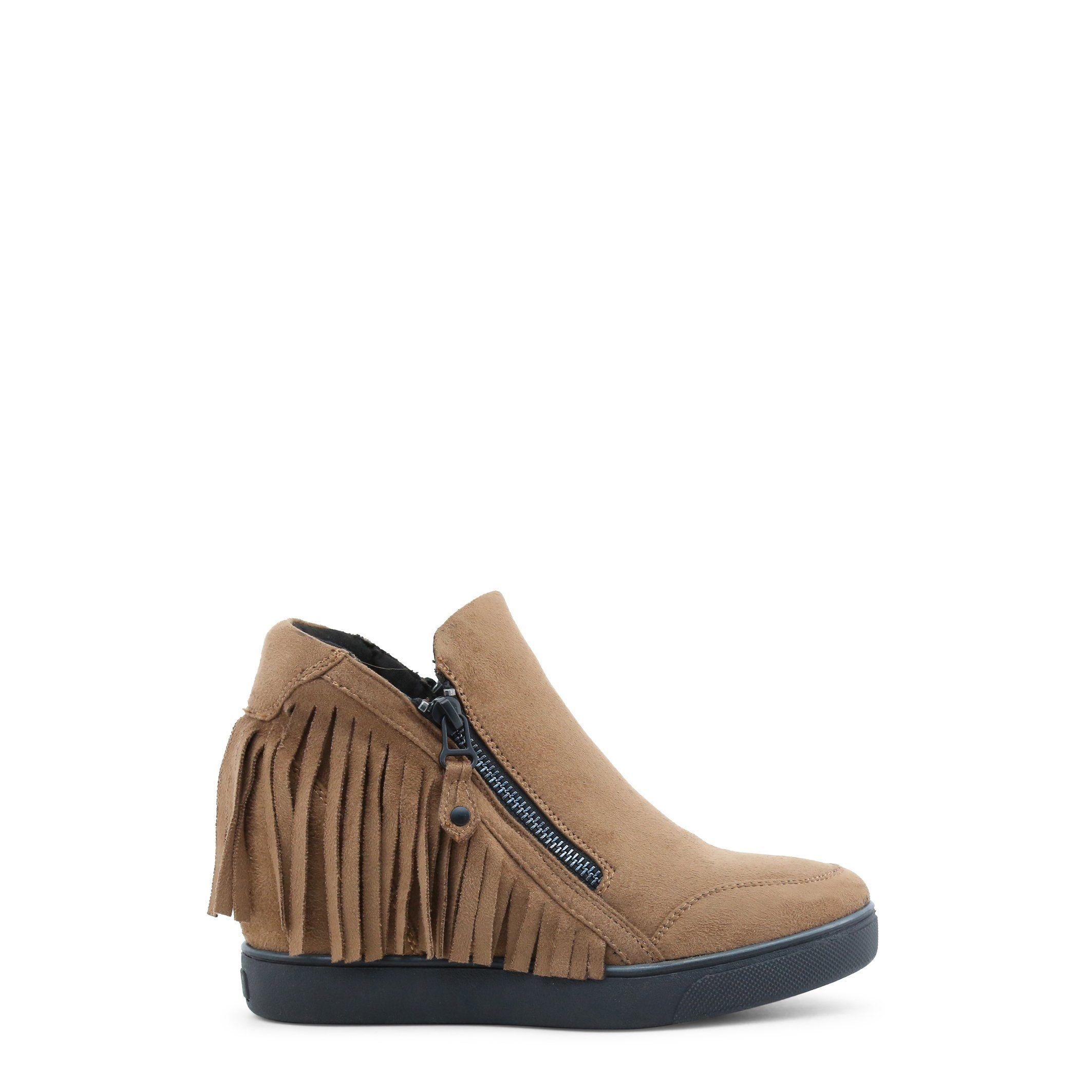 06f47e66f58 Xti Fringe Wedge Ankle Boots In Faux Suede Leather Tan Sizes 9-11 On SALE -  46272
