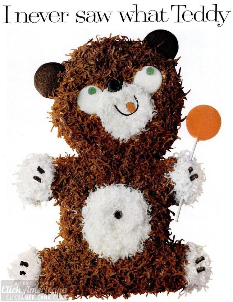 How to make a cute teddy bear cake 1961 teddy bear