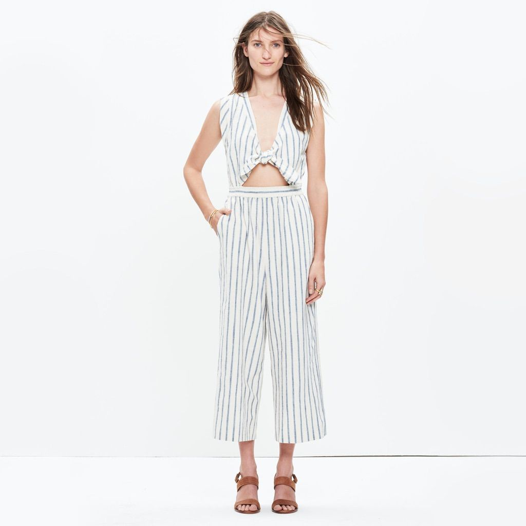 Madewell Tie Front Culotte Jumpsuit