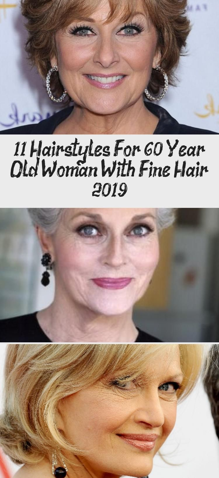 hairstyles for fine straight hair over 60