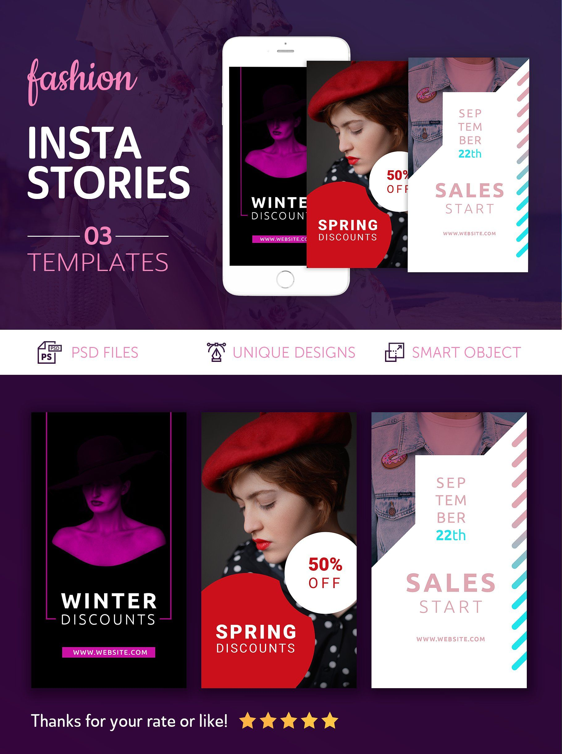 Fashion Instagram Stories by UNIK Agency on @creativemarket
