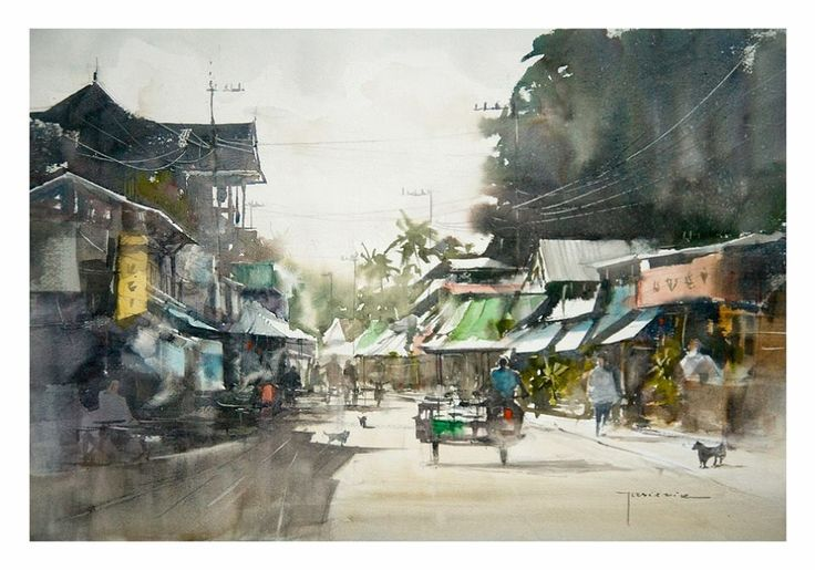 Inspiring watercolors urban watercolour inspiration