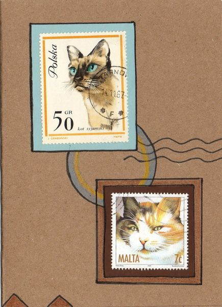 One of a kind handmade blank altered art greeting cards using free one of a kind handmade blank altered art greeting cards using vintage international postage stamps other craft items m4hsunfo
