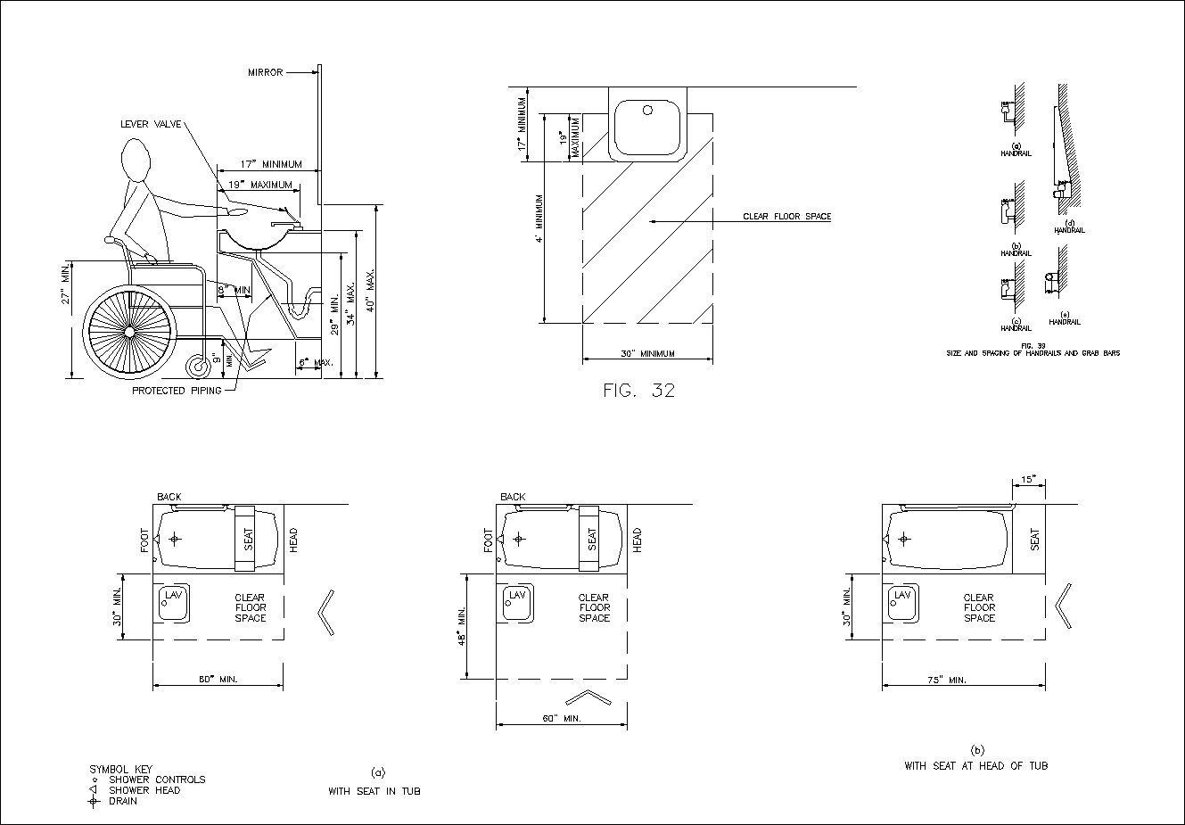 Accessibility Facilities Drawings V2 Handicap Block Diagram Drawing Images Free Download Cad Design Blocksdrawings Details