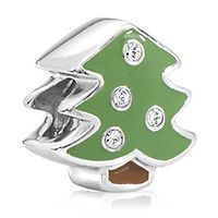 Expressions for Helzberg® Enamel Green Christmas Tree Bead