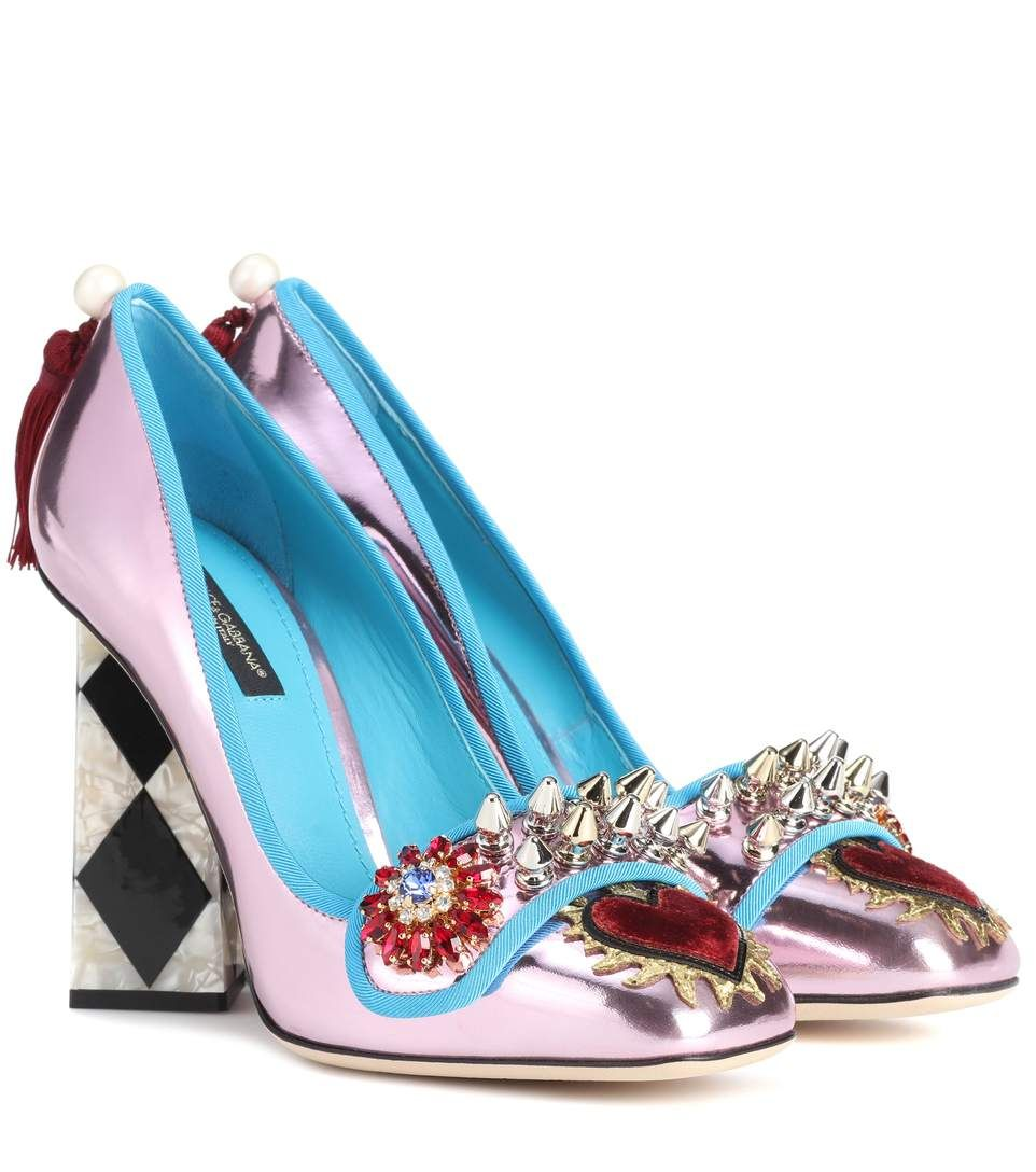 Crystal-Embellished Patent-Leather PumpsDolce & Gabbana SXYJZqe