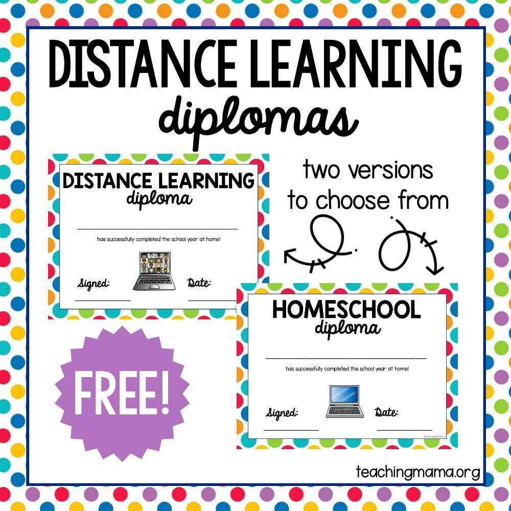 Distance Learning Diploma Teaching Mama In 2020 Homeschool Diploma Distance Learning Teaching Mama
